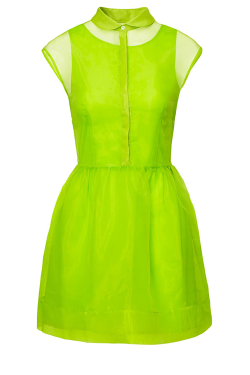 Review: Neon Lime Green Dress from H\u0026M