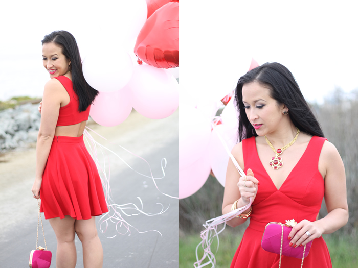7e079d8b21bb6b Dress  Skater Dress with Open Back from ASOS. Jacket  Hot Pink Blazer from  H M. Purse  Hot Pink Rose Clutch from DSW. Shoes  Sam Edelman