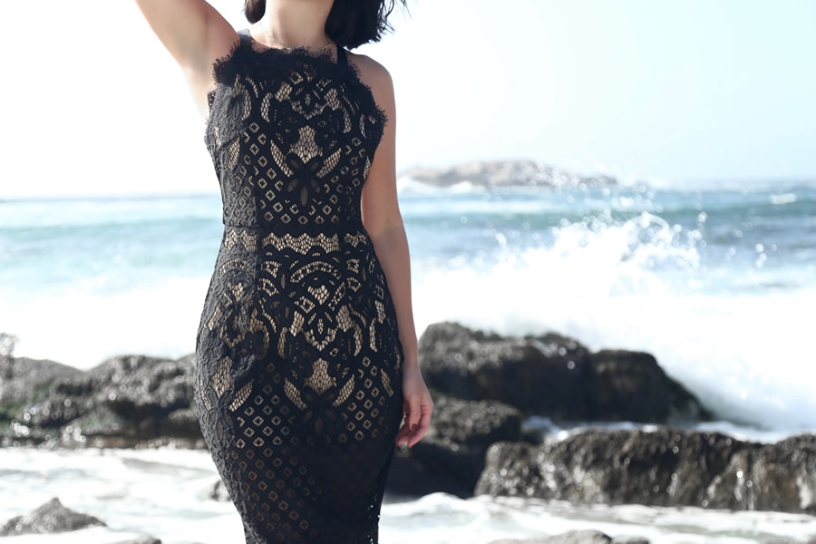 blacklacemididress7